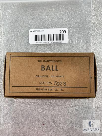 50 Rounds of .45 ACP M1911 Ball Ammunition - Remington