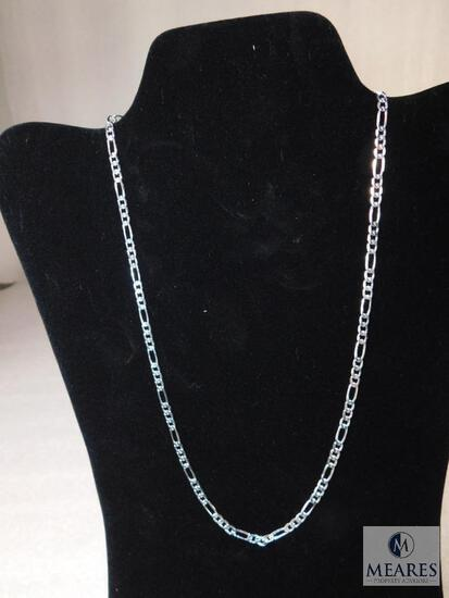 """20"""" Figaro Necklace 4mm 925 Sterling Silver 7 grams"""