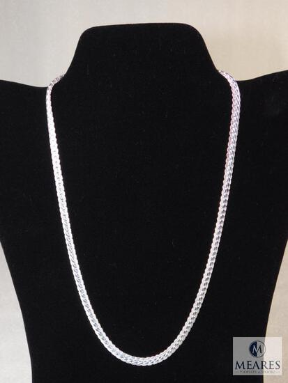 "20"" Sterling Silver Necklace 22 gram .5mm width 925"
