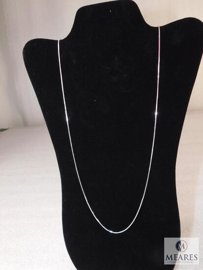 """28"""" Box Necklace 1.4mm 925 Sterling Silver 5 grams"""