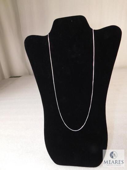 """24"""" Box Necklace 1.4mm 925 Sterling Silver 5 grams"""