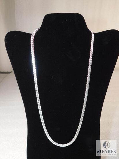 "24"" Sterling Silver Necklace 27 gram .5mm width 925"