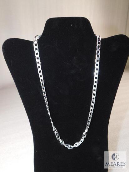 Curb chain, 8 mm, 22 inch, marked 9.25, 27 grams