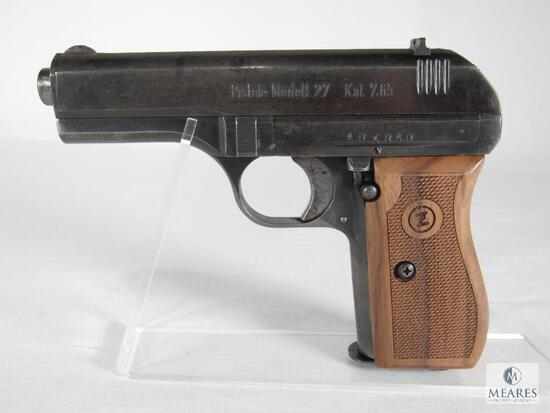 CZ model 27 Semi-Auto Pistol 7.65 Caliber (.32 ACP) with German Markings