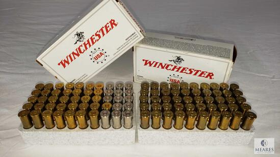 100 Rounds Winchester .357 Magnum Ammo 110 Grain JHP (14 are steel cased)