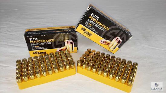 100 Rounds Sig Elite Performance Ammo .357 SIG FMJ 125 Grain