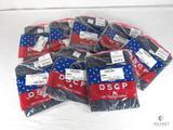 Lot of 8 New Mens DSCP 100% Cotton Navy Blue Undershirt Size (2XL) XX-Large