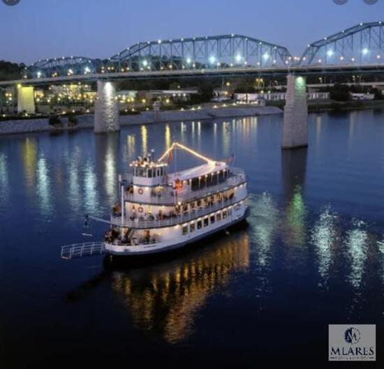 SUNSET CRUISE FOR FOUR ON THE TENNESSEE RIVER: ENJOY THE SOUTHERN BELLE RIVERBOAT