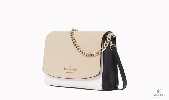 KATE SPADE! PERFECT GIFT FOR THE LADY IN YOUR LIFE! NEUTRAL DESIGNER HANDBAG FOR YEAR-ROUND USE