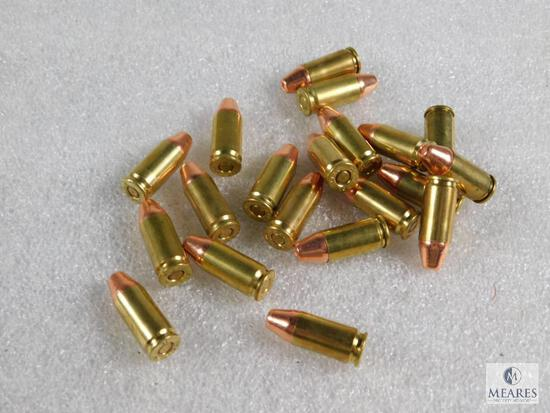 20 Rounds 9mm 123 Grain Hollow Point Ammo
