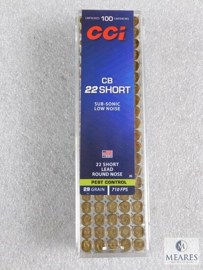 100 Rounds CCI 22 Short Sub-Sonic Low Noise Ammo