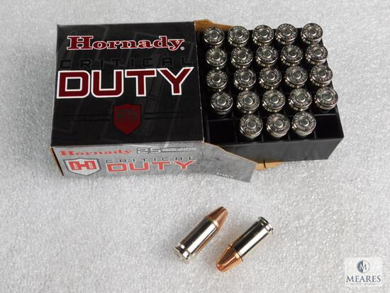 25 Rounds Hornady 9mm Critical Duty Ammo 135 Grain Flexlock Great for Self Defense or Conceal carry