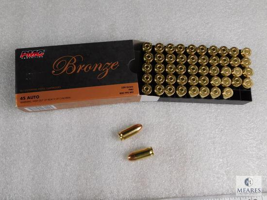 50 Rounds PMC .45 ACP Ammo 230 Grain FMJ