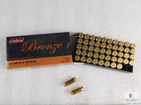 50 Rounds PMC .40 S&W Ammo 180 Grain FMJ