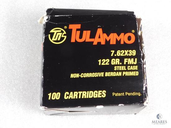 100 Rounds Tulammo 7.62x39mm Ammo 122 Grain FMJ