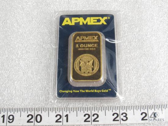APMEX-certified 1-ounce .9999 fine gold ingot