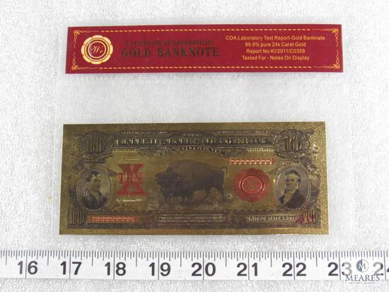 $10 24k Gold Banknote with Certificate of Authenticity