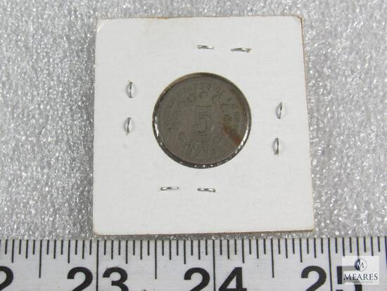 1869 Shield 5-cent piece
