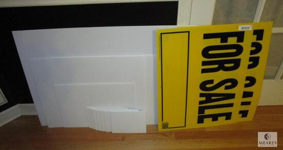 """Lot of Corrugated Yard Sign Material - Assorted Sizes 8"""" to 36"""""""