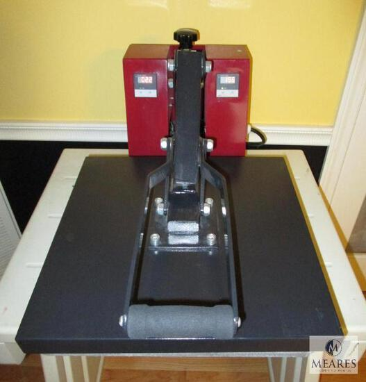 """Heat Press Machine 15"""" Clamshell - Heat Transfer Shirt, Coozies, and more Adjustable Pressure"""