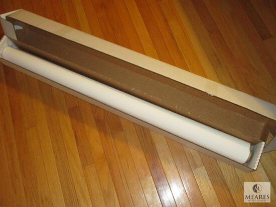 """Banner Print Media White WF Reinforced PVC 50"""" x approximately 10 Yards"""