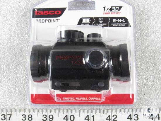 New Tasco Propoint red dot scope 1x30mm Great for Ar 15, shotgun, or pistol with rail mount
