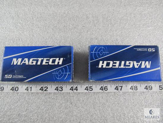 100 rounds magtech 9mm ammo 124 grain FMJ. two 50 round boxes