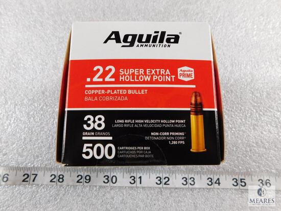 500 Rounds Aguila .22 Long Rifle Ammo 38 Grain Copper Plated Hollow Point High Velocity