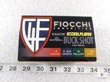 25 Rounds Fiocchi 12 Gauge Buckshot 9 Pellets 2 3/4