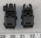 New flip up front and rear AR15 sights. Fully adjustable.