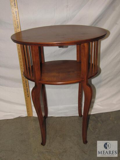 Small Oval One-Shelf Occasional Table