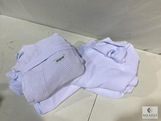 Lot of (4) TURQUAZ Spa Robes - White - One Size