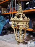 LARGE HEAVY Resin and Metal Chandelier - 53
