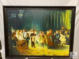 Framed Cotillion Scene