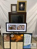 Lot of Promotional Frames Including Framed Chalkboard