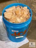 52-pound bucket of mixed Pink Himalayan Salt - bricks and otherwise