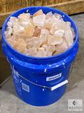 58-pound bucket of Pink Himalayan Salt - smaller chunks and pieces