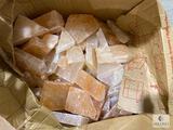 Box of 68-pounds of Pink Himalayan Salt Bricks and Pieces