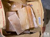 Box of 43-pounds of Pink Himalayan Salt Bricks and Pieces