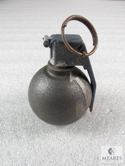 Inert demilled Baseball type hand grenade