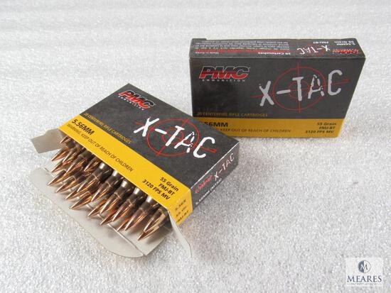 40 rounds PMC X-TAC 5.56 ammo. 55 grain FMJ Boat Tail