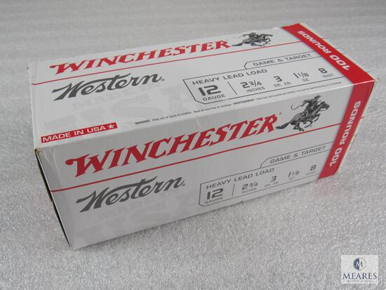 100 Rounds - Winchester 12-gauge 8-shot 1200 fps - Heavy Lead Load