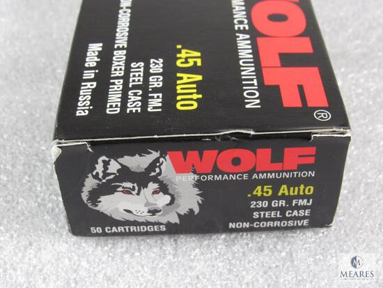 50 Rounds Wolf .45 ACP Ammunition - 230-Grain FMJ