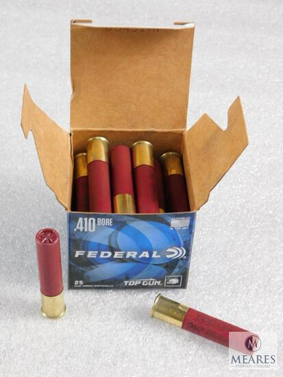 "25 Rounds Federal Top Gun .410 Gauge Shotgun Shells 2.5"" 8 Shot 1330FPS"