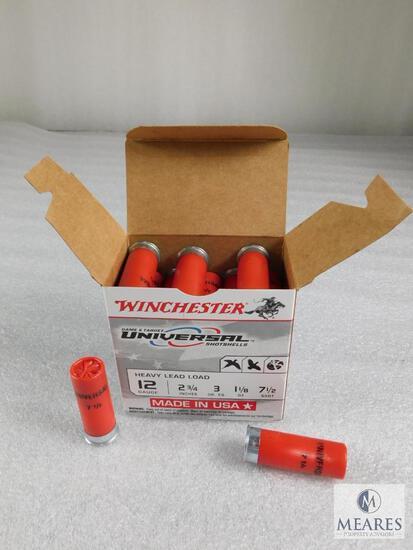 """25 Rounds Winchester .12 Gauge Shotgun Shells 2 3/4"""" 1/8 Ounce 7 1/2 Shot 1200FPS"""