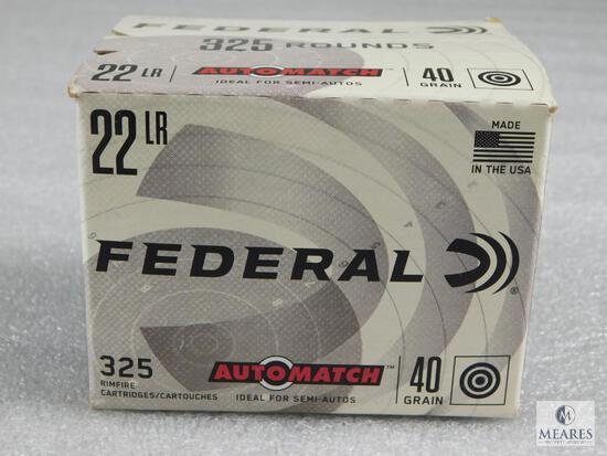 325 Rounds Federal .22 Long Rifle Ammunition 40 Grain