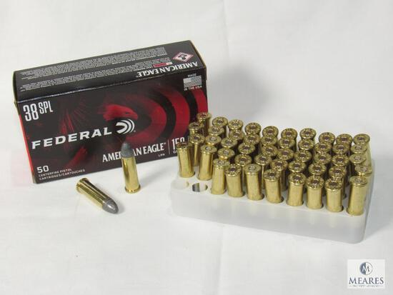 50 Rounds Federal American Eagle .38 SPL 158 Grain Ammo