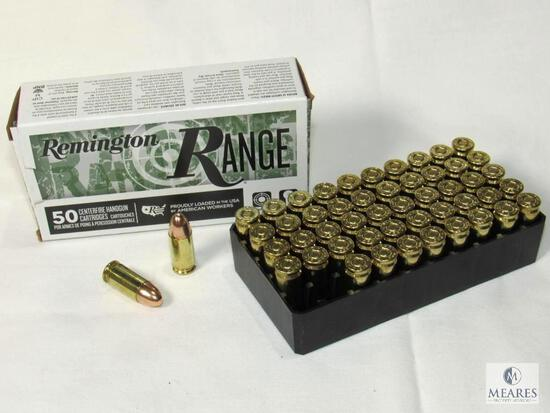 50 Rounds Remington Range 9mm Luger 115 Grain FMJ Ammo