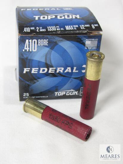 "25 Rounds Federal Top Gun .410 Gauge 2-1/2"" 1/2 oz 8 Shot 1330 FPS Shells"