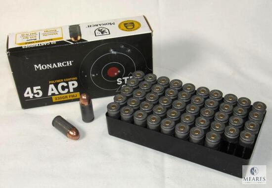 50 Rounds Monarch .45 ACP Steel Case Ammo 230 Grain FMJ